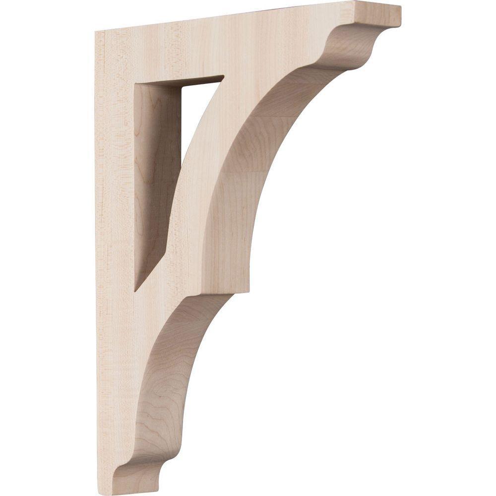 1-3/4 in. x 12 in. x 8-1/2 in. Rubberwood Large Avila Bracket