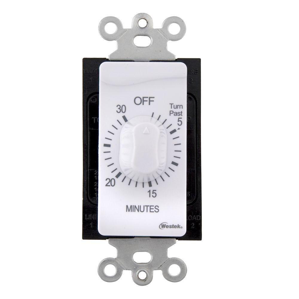 Westek 30 Min In-Wall Countdown Timer - White