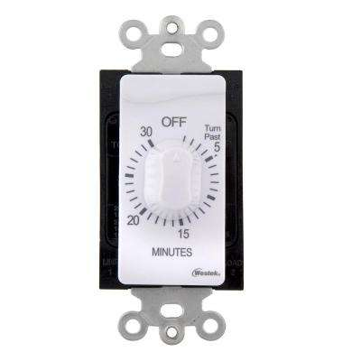30 Min In-Wall Countdown Timer - White
