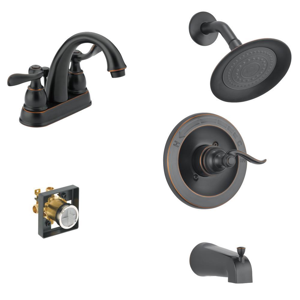 Delta Windemere 4 In Centerset 2 Handle Bathroom Faucet