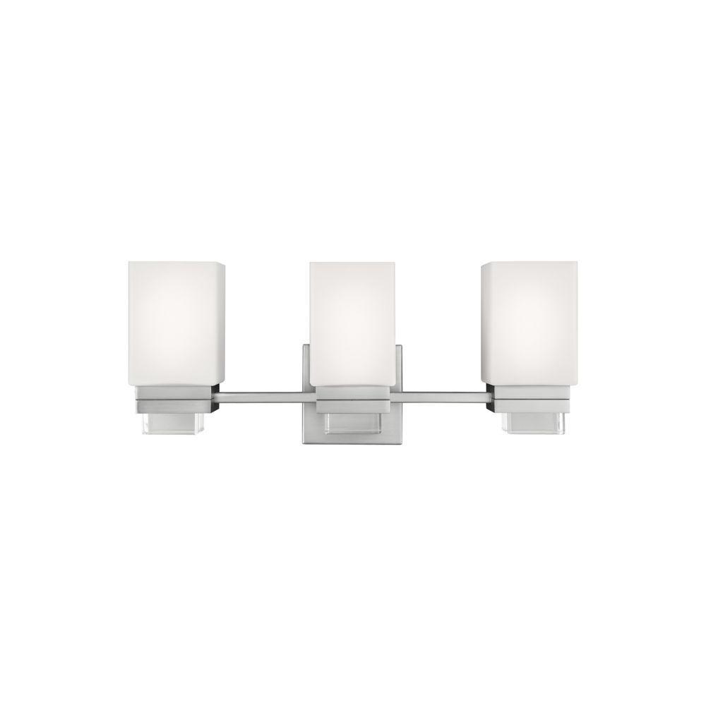 Maddison 3-Light Satin Nickel Vanity Light