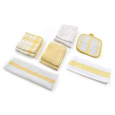 Utility Kitchen Towel Set in Yellow (17-Piece)