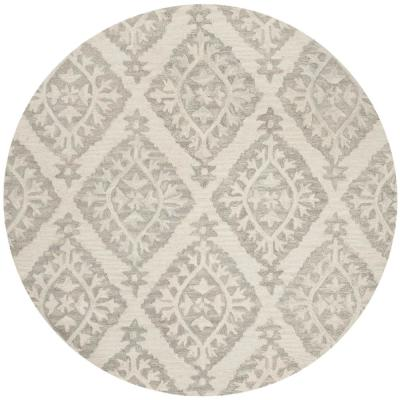 Micro-Loop Light Gray 5 ft. x 5 ft. Round Area Rug