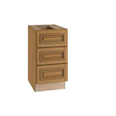 Clevedon Assembled 18x28.5x21 in. 3 Drawers Base Desk Cabinet in Toffee Glaze