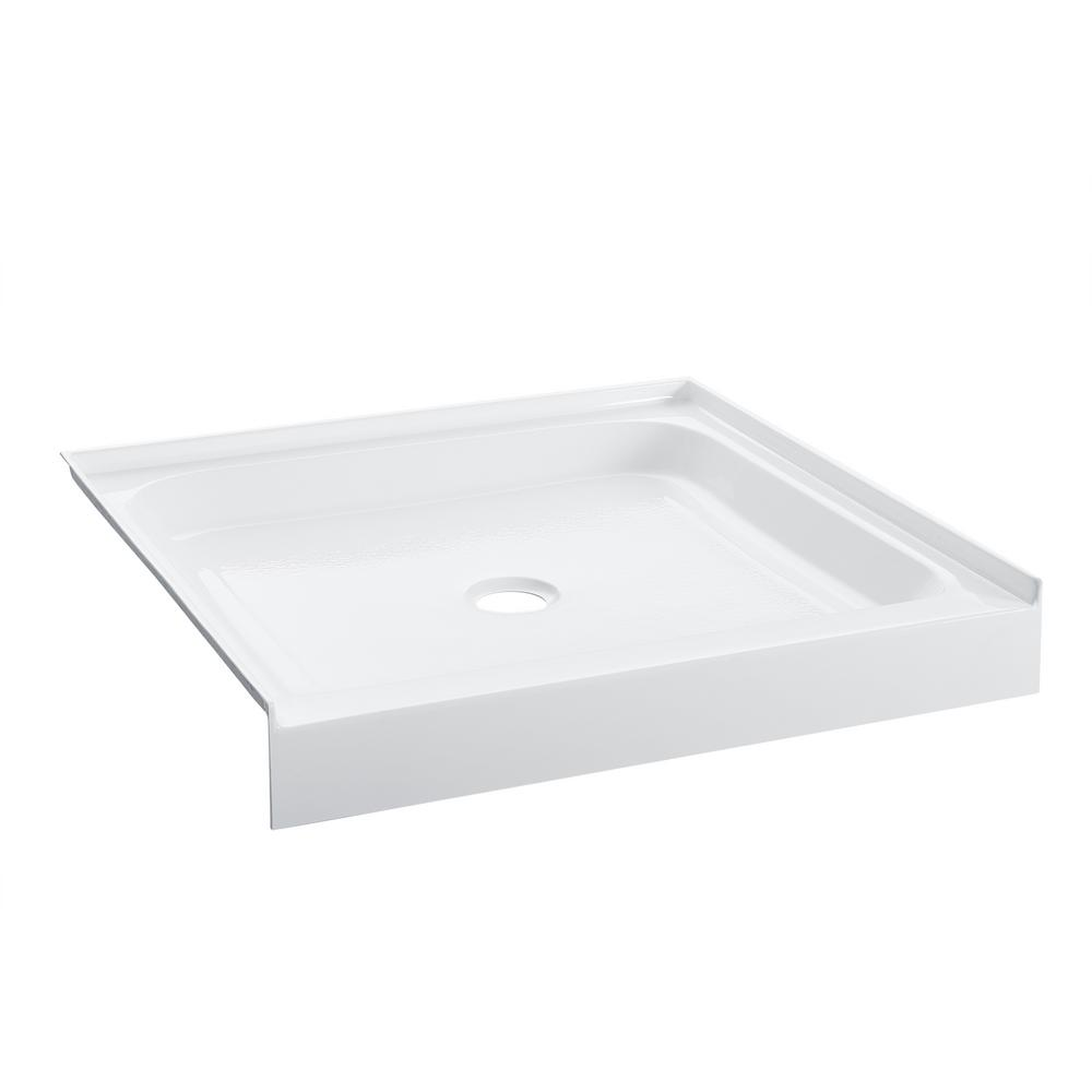 Swiss Madison Voltaire 36 in. x 36 in. Acrylic, Single-Threshold, Center Drain, Shower Base in White