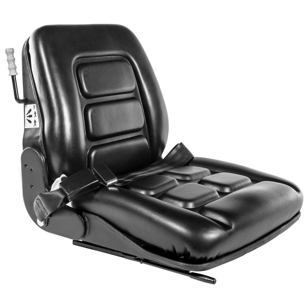 Lawn Mower Seat Universal Forklift Tractor Seat Slidable PVC Seating w// Backrest
