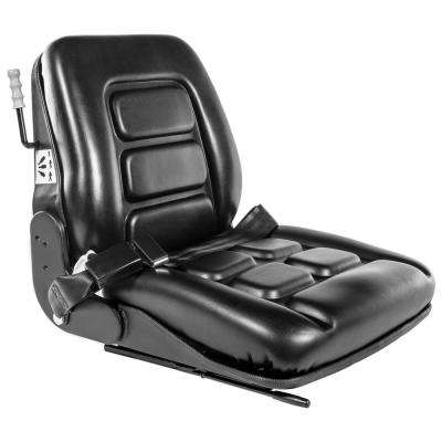 Universal Replacement Forklift Leather Seat with Seat Belt and Adjustable Back Rest
