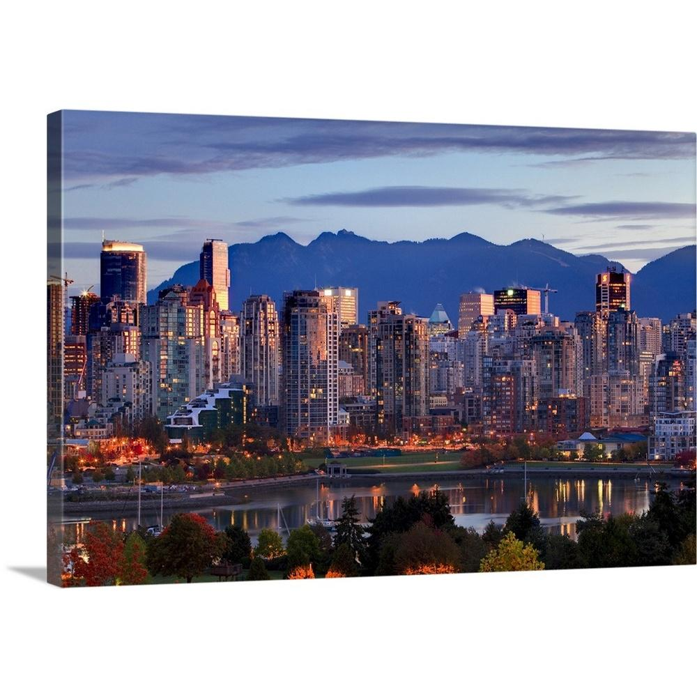 """Yaletown Vancouver: GreatBigCanvas """"View Of Skyline With Yaletown, Vancouver"""