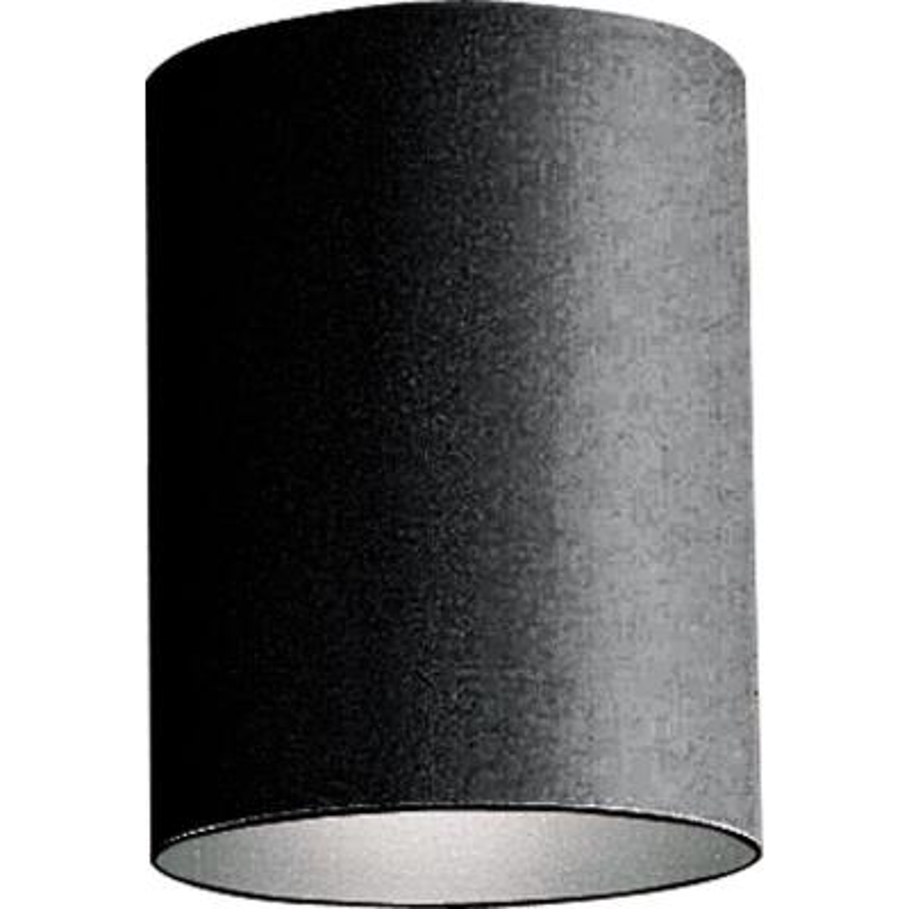 1-Light Black Outdoor Flushmount