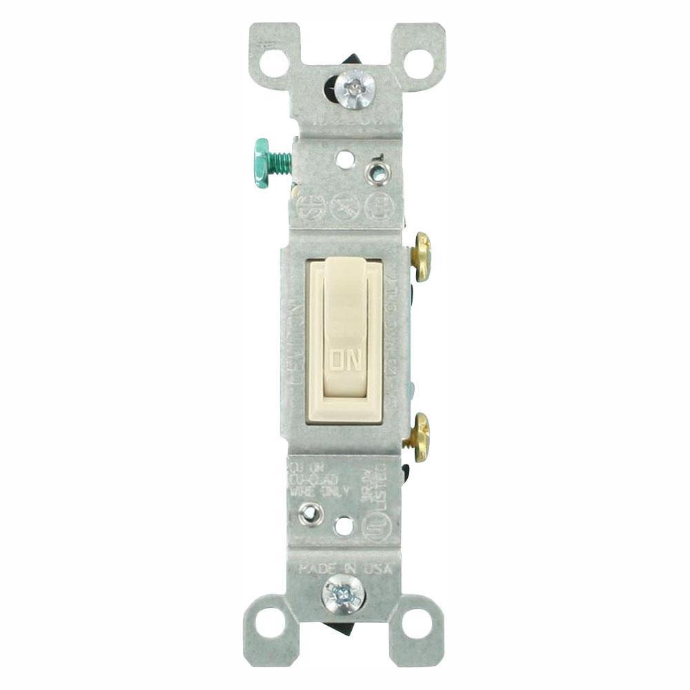 2 pack Leviton Grounded Single Pole Switch