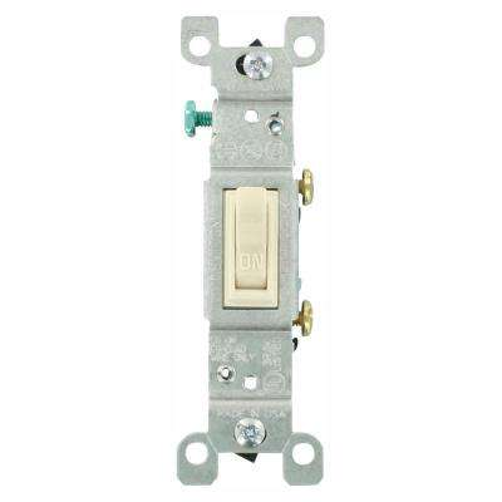 15 Amp Single-Pole Toggle Switch, Light Almond (10-Pack)