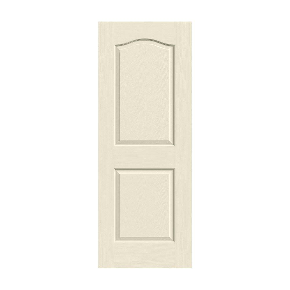 225 & JELD-WEN 32 in. x 80 in. Camden Primed Textured Molded Composite MDF Interior Door Slab