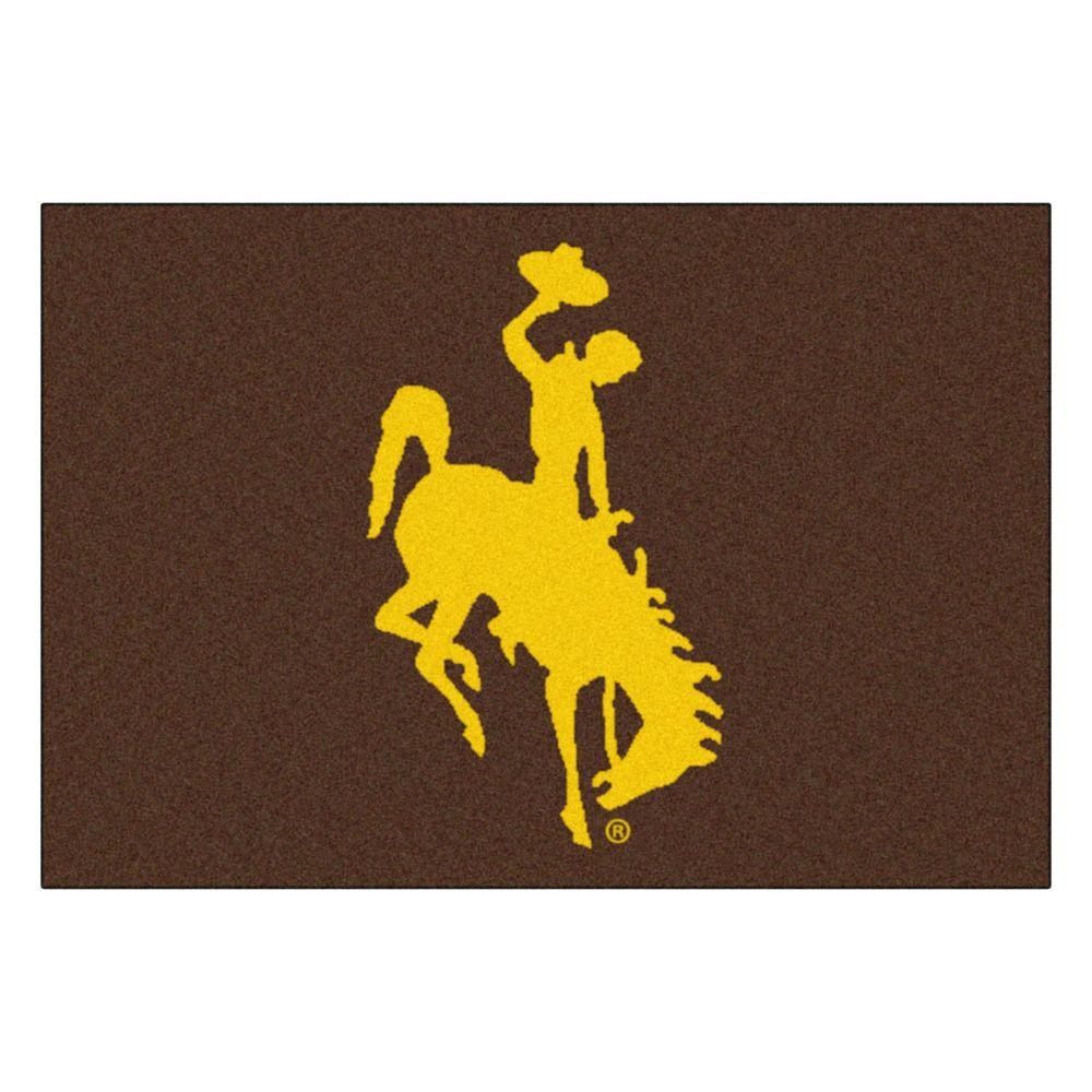 NCAA University of Wyoming Cowboy Logo Brown 1 ft. 7 in.