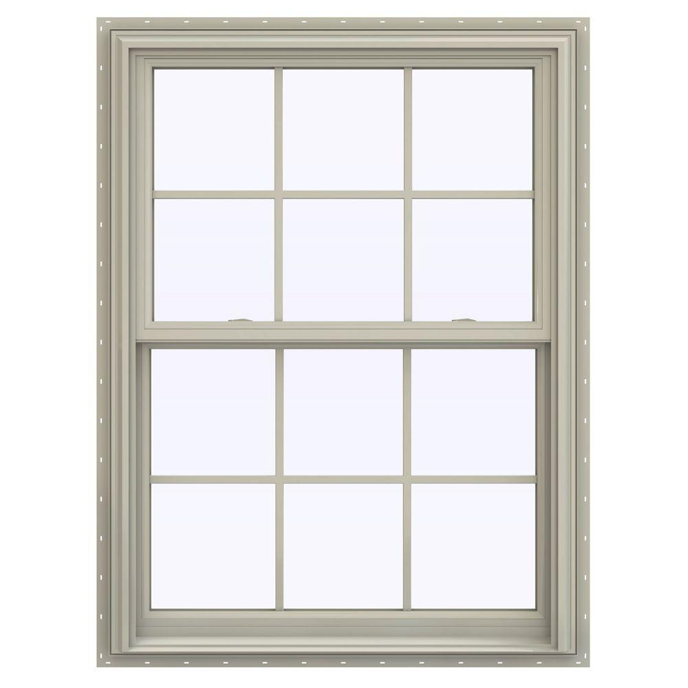 35.5 in. x 47.5 in. V-2500 Series Desert Sand Vinyl Double