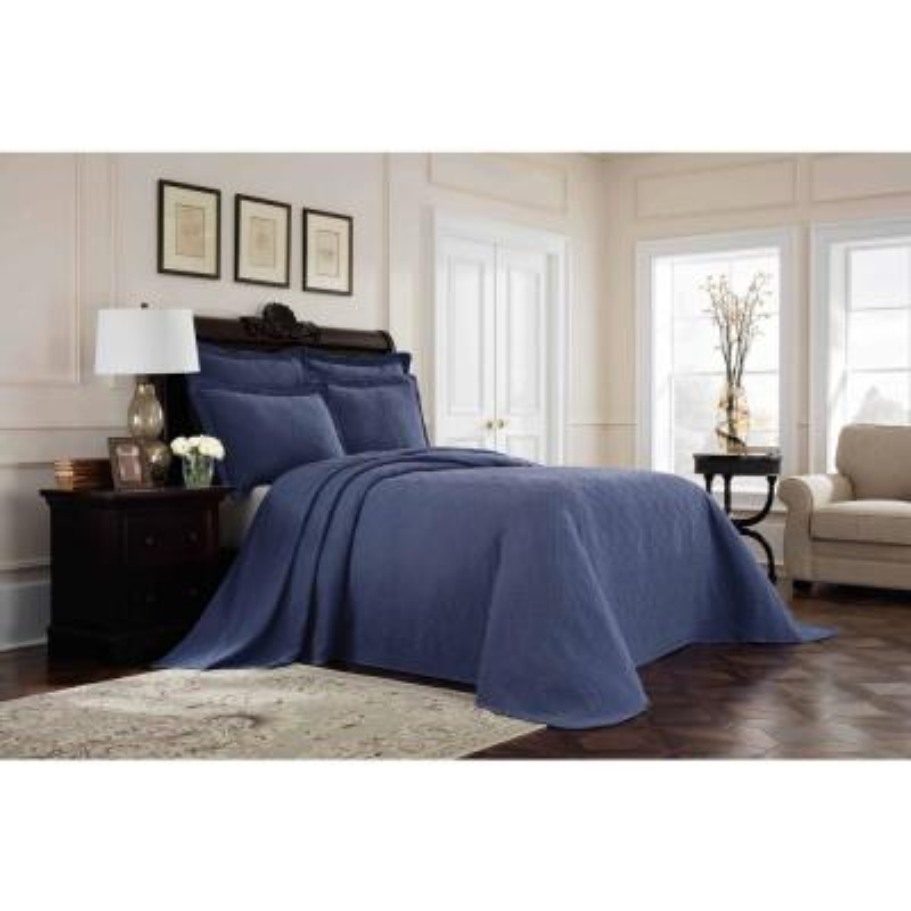 Williamsburg Richmond Blue Queen Bedspread