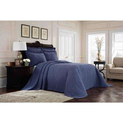 Williamsburg Richmond Blue King Bedspread