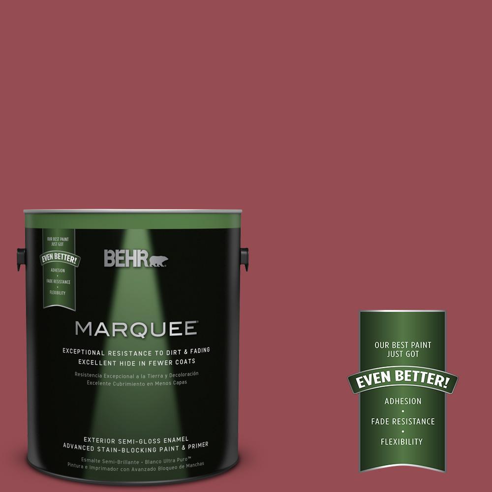 BEHR MARQUEE 1-gal. #PPU1-11 Crantini Semi-Gloss Enamel Exterior Paint