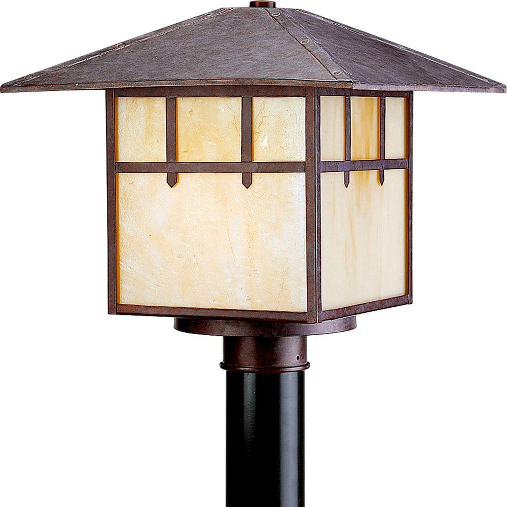 Progress Lighting Mission Collection Cobblestone 1-light Post Lantern-DISCONTINUED