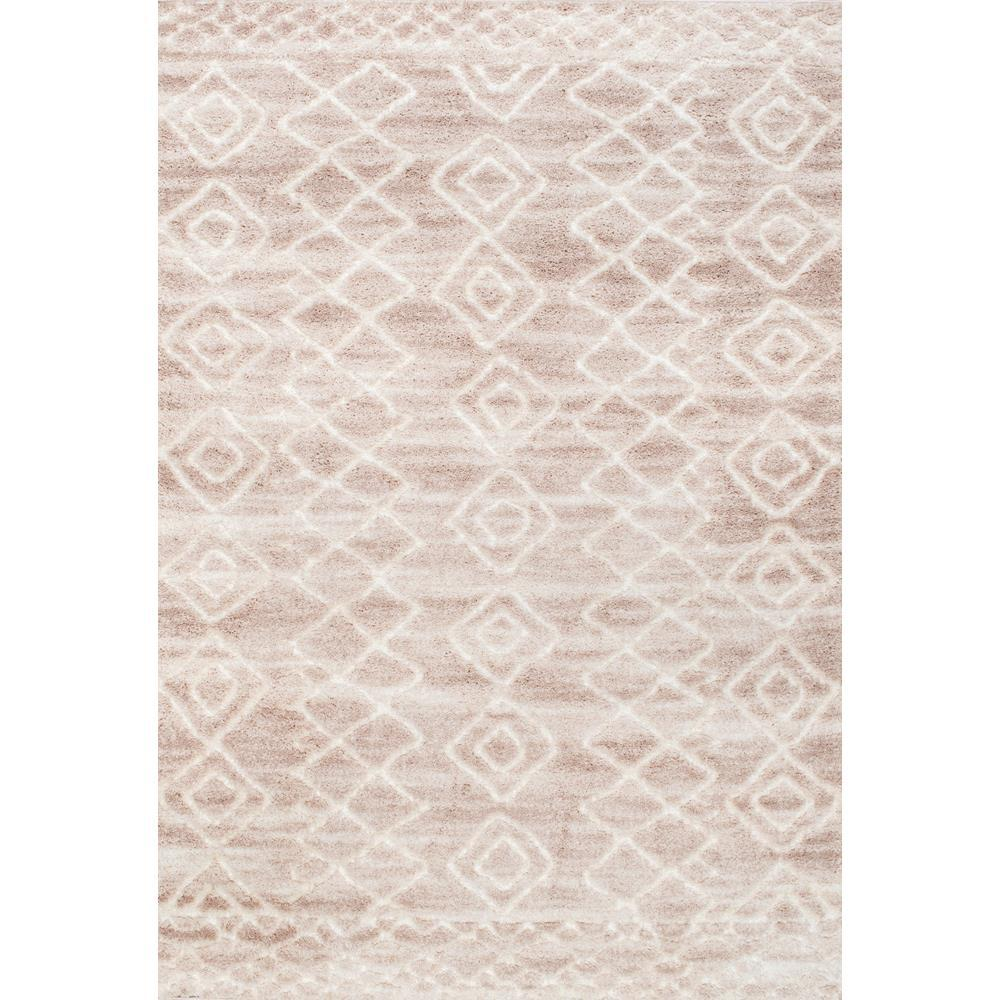NuLOOM Vinita Moroccan Diamonds Shaggy Light Beige 9 Ft. X