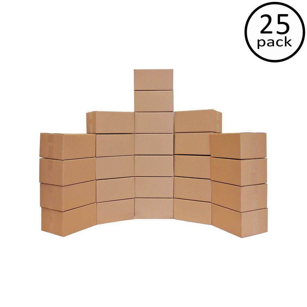 Plain Brown Box 12 in. x 9 in. x 6 in. 25-Box Bundle-DISCONTINUED