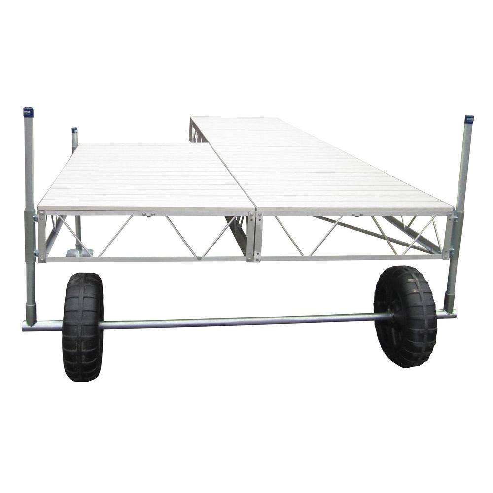 40 ft. Patio Roll-In Dock with Gray Aluminum Decking
