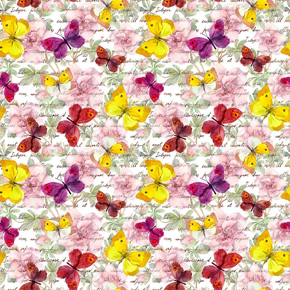 18.2 in. x 36.4 in. Butterflies Peel and Stick Foam Tile Wall Decal