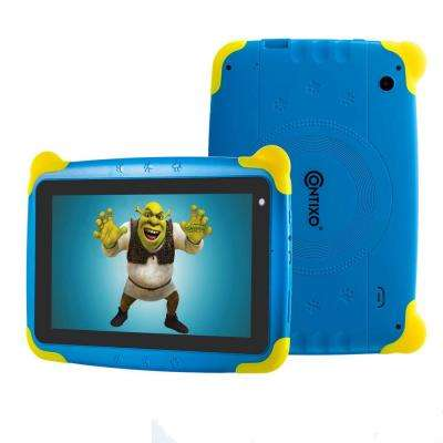 Kids Tablet K4 7 in. Display Android 6.0 Bluetooth Wi-Fi Camera Parental Control for Children Infant Toddlers in Blue