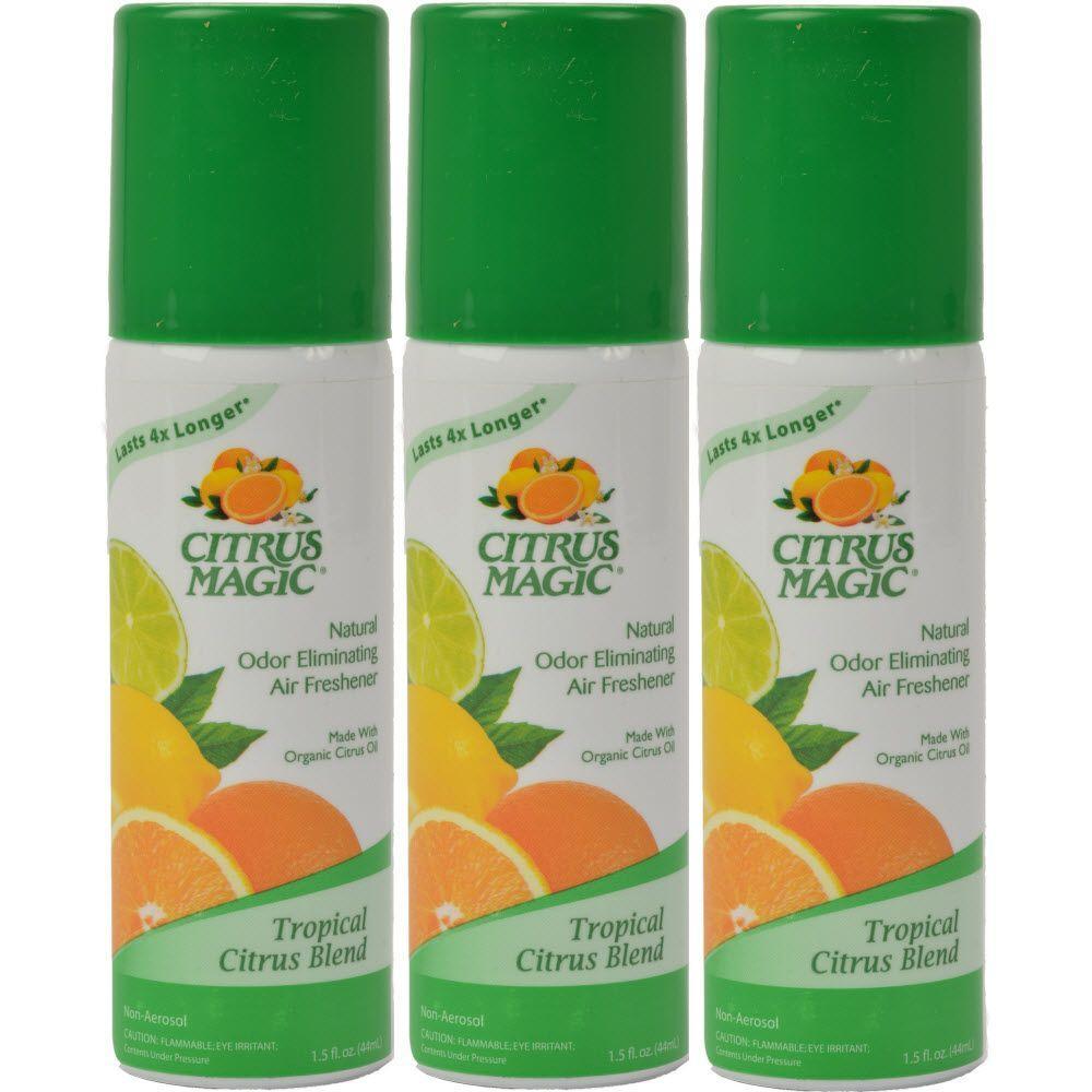 Citrus Magic 1.36 oz. Tropical Citrus Blend Natural Odor Eliminating Air Freshener Spray (3-Pack)