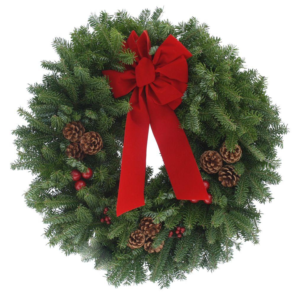 24 in. Balsam Fir Classic Fresh Wreath : Multiple Ship Weeks