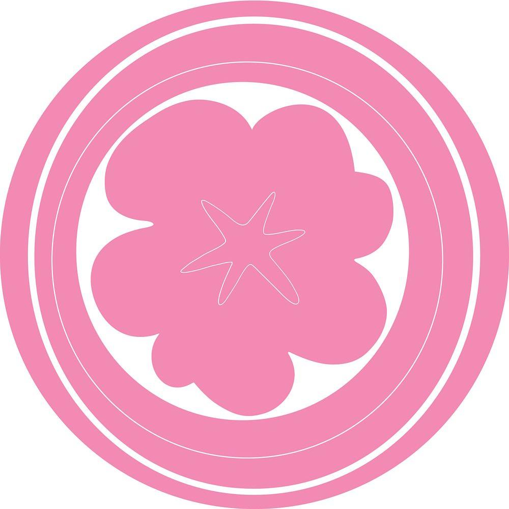 13 in. x 13 in. Pink Hooplah Circles Wall Decal