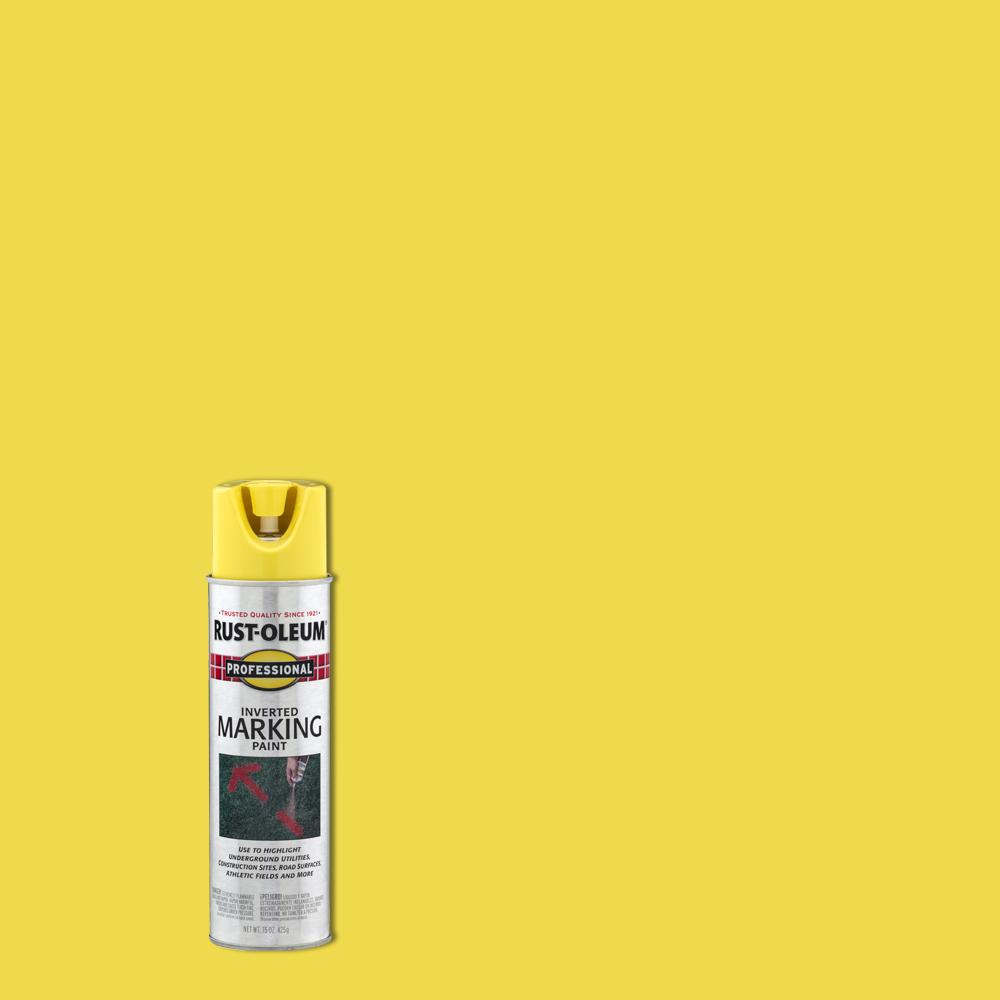 Rust-Oleum Professional 15 oz. High Visibility Yellow Inverted Marking Spray Paint