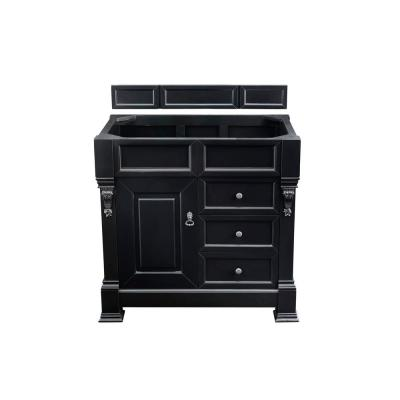 Brookfield 36 in. W Bathroom Single Vanity Cabinet with Drawers in Antique Black