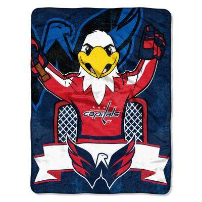 Capitals Mascot Multi-Color Polyester Micro Blanket