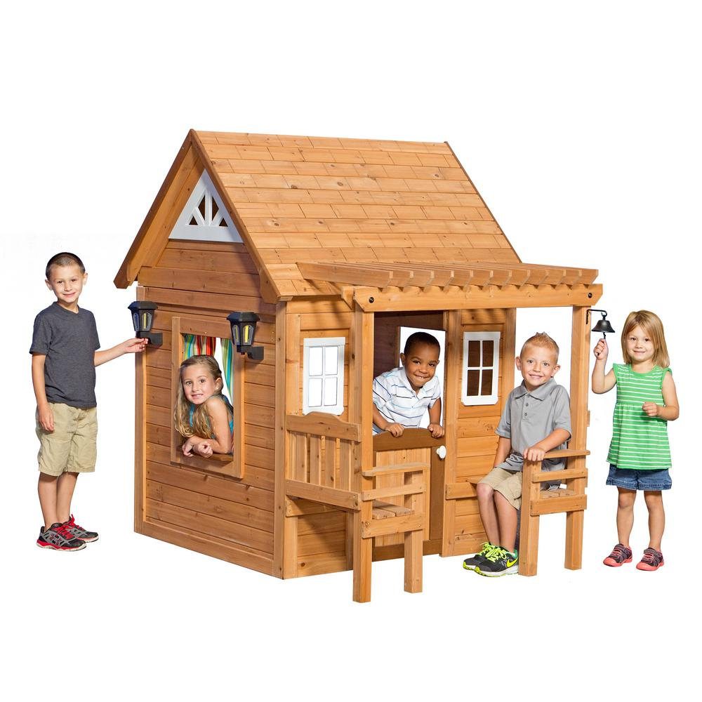 Home Depot Playhouses : Backyard discovery cascade cedar playhouse com