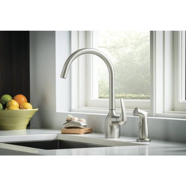 Moen Essie 87735SRS Spot Resist Stainless One-Handle High Arc Kitchen Faucet