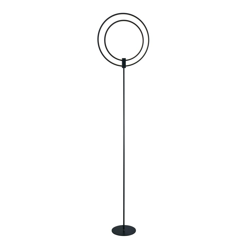 Aurora 63 in. Black indoor Floorchiere Lamp