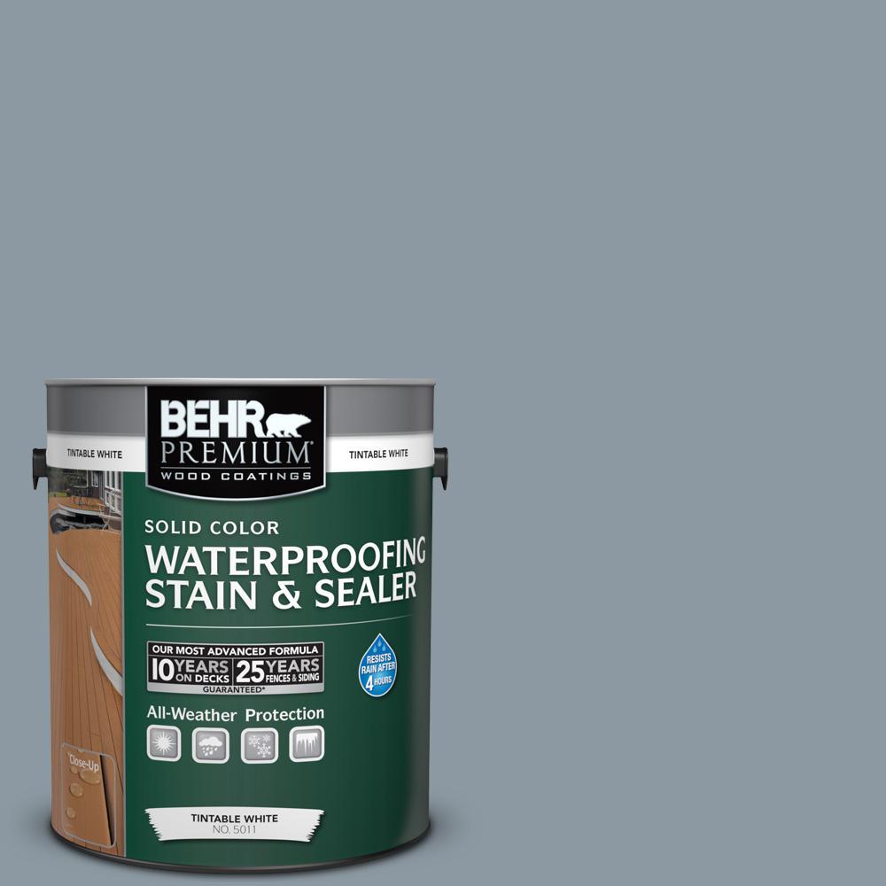 1 gal. #N490-4 Teton Blue Solid Waterproofing Stain and Sealer