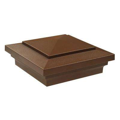 4 in. x 4 in. Brazilian Walnut Vinyl Craftsman Post Cap