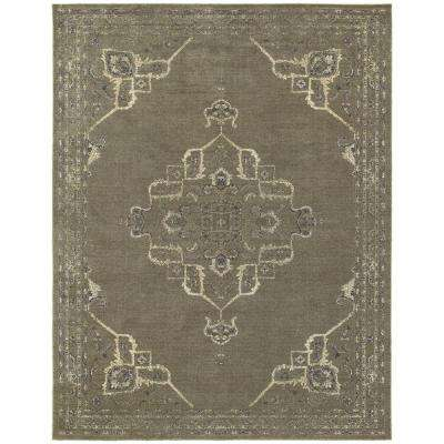 Antiquity Dark Gray 10 ft. x 12 ft. Area Rug