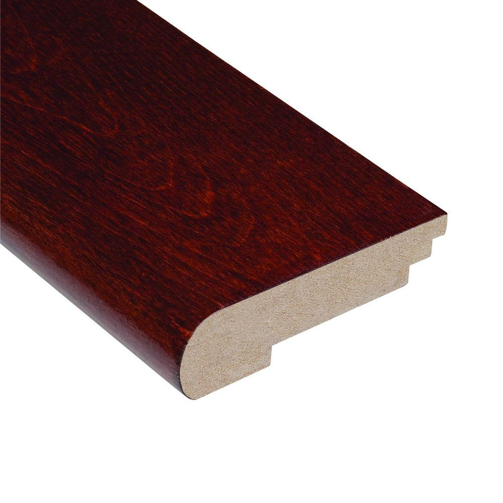 Home Legend High Gloss Birch Cherry 1/2 in. Thick x 3-1/2 in. Wide x 78 in. Length Hardwood Stair Nose Molding