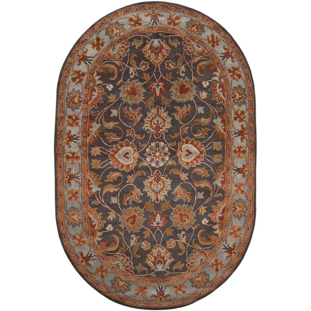awesome Half Oval Rug Part - 19: Artistic Weavers John Charcoal Gray 8 ft. x 10 ft. Oval Area Rug