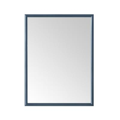 Melpark 32 in. W x 24 in. H Framed Rectangular Bathroom Vanity Mirror in Grayish Blue
