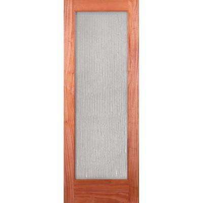 Bamboo Casting Woodgrain 1 Lite Unfinished Cherry Interior Door Slab