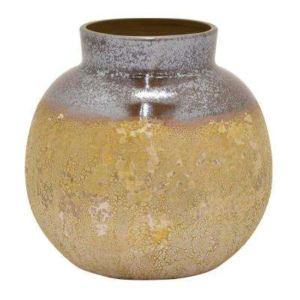 9.5 in. Brown Ceramic Vase