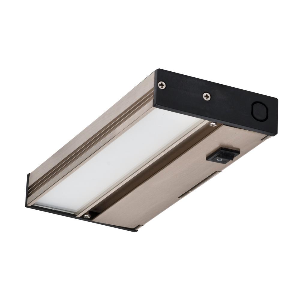 hardwired nickel integrated led under cabinet lights