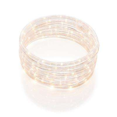 50 ft. Integrated LED Soft White Rope Light