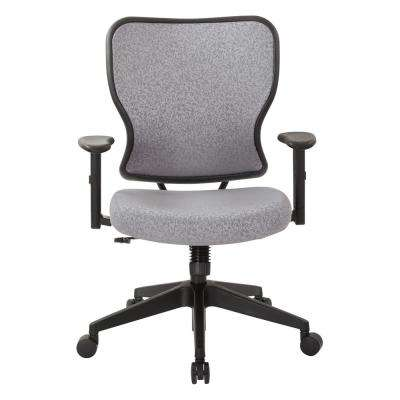 Deluxe 2 to 1 Steel Fabric Mechanical Height Adjustable Arms Chair