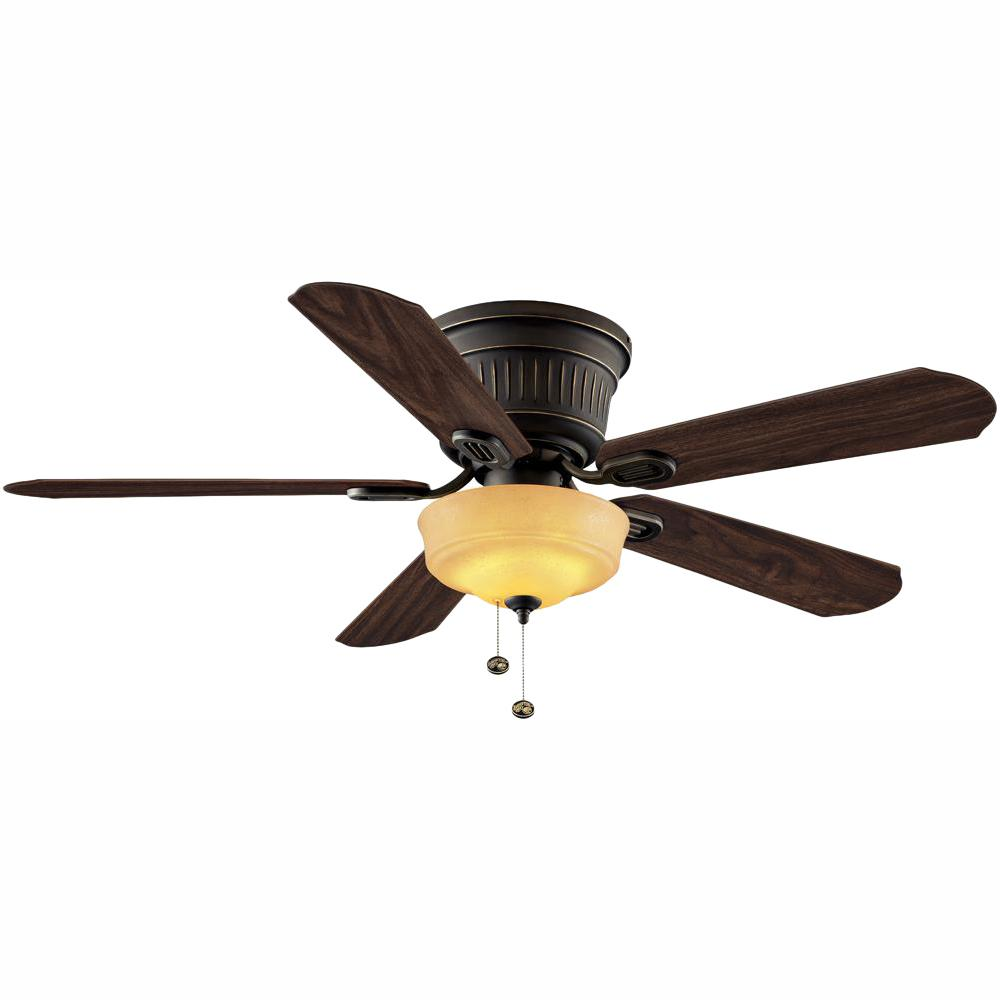 Hampton Bay Lynwood 52 in. LED Indoor Oil Rubbed Bronze Ceiling Fan with Light Kit