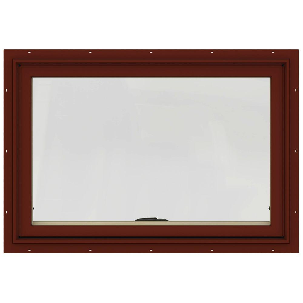 36 in. x 24 in. W-2500 Series Red Painted Clad Wood