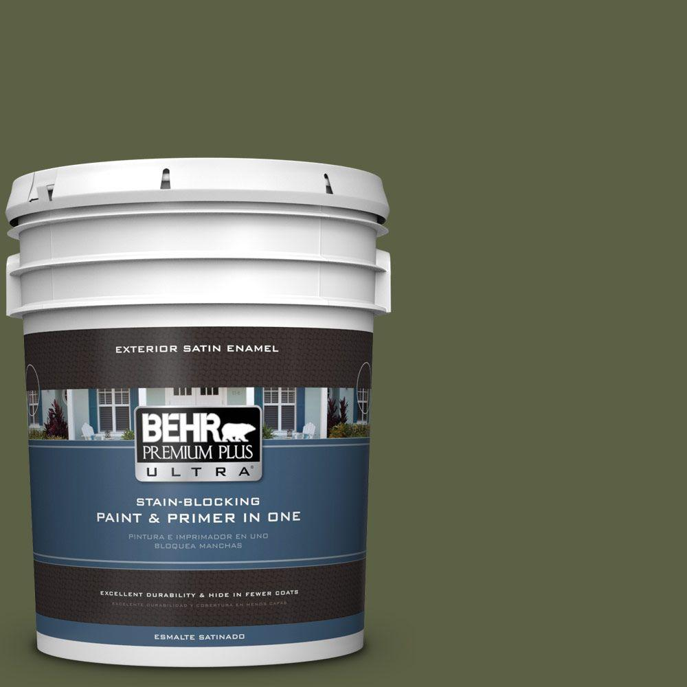 BEHR Premium Plus Ultra 5-gal. #S360-7 Down to Earth Satin Enamel Exterior Paint